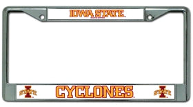 Iowa State Cyclones License Plate Frame Chrome