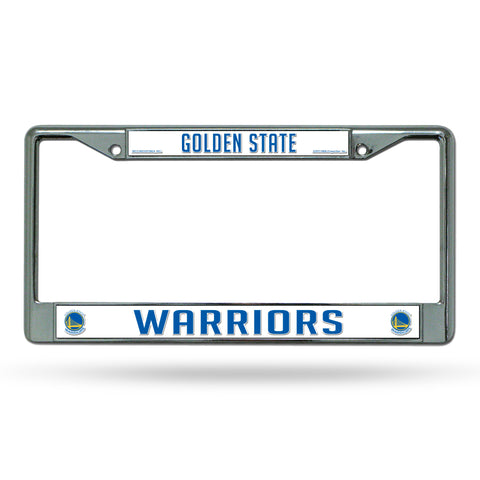Golden State Warriors License Plate Frame Chrome