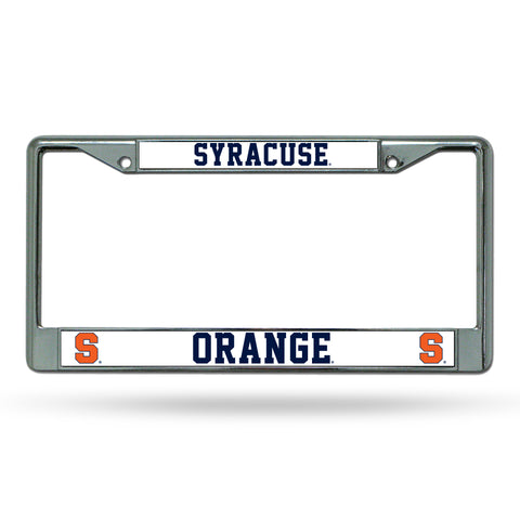 Syracuse Orange Chrome License Plate Frame