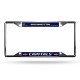 Washington Capitals License Plate Frame Chrome EZ View