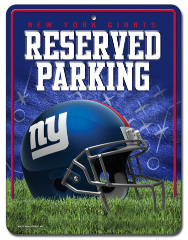 New York Giants Sign Metal Parking