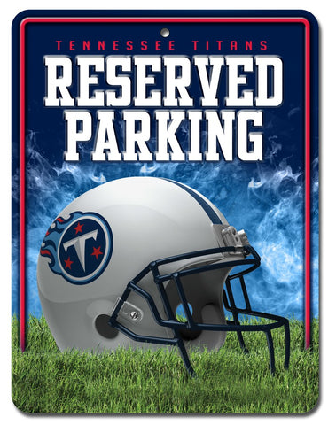 Tennessee Titans Sign Metal Parking
