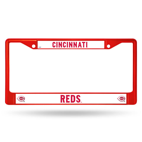Cincinnati Reds License Plate Frame Metal Red