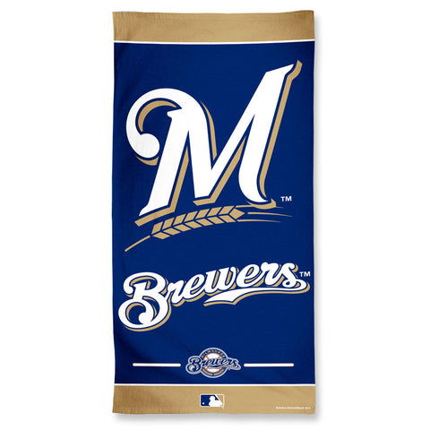 Milwaukee Brewers Towel 30x60 Beach Style Special Order