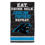 Carolina Panthers Baby Burp Cloth 10x17