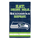 Seattle Seahawks Baby Burp Cloth 10x17