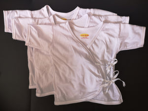 3 Pcs Short Sleeves Tie-side for newborn