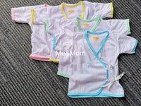 Newborn Short Sleeves white with colored Side