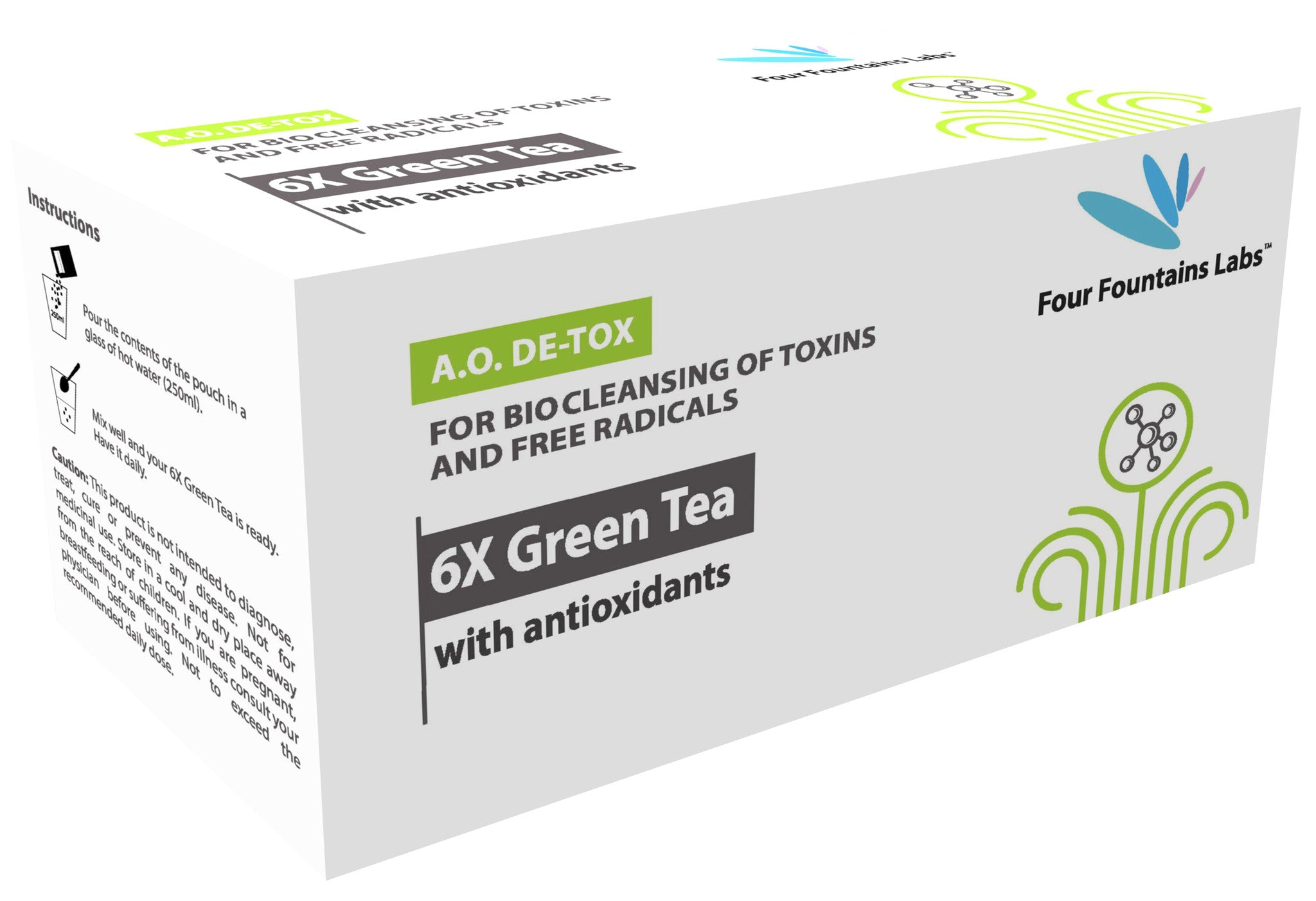 6X Green Tea - 6 times higher Antioxidants for promoting Weight Loss and anti Ageing  (1 Month Supply)