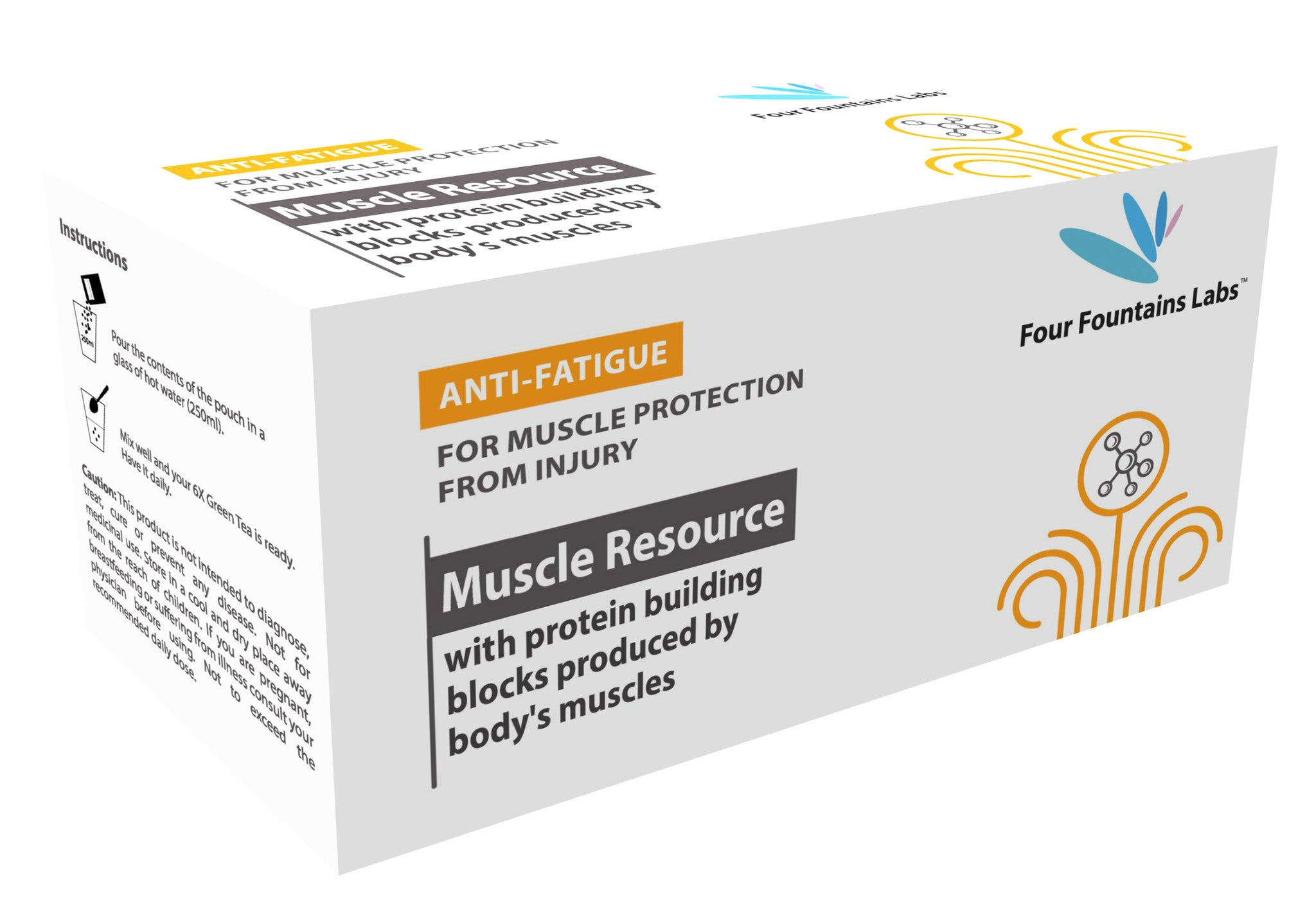 Muscle Resource with Glutamine - for reducing Fatigue by replenishing Protein to the Muscles (1 Month Supply)