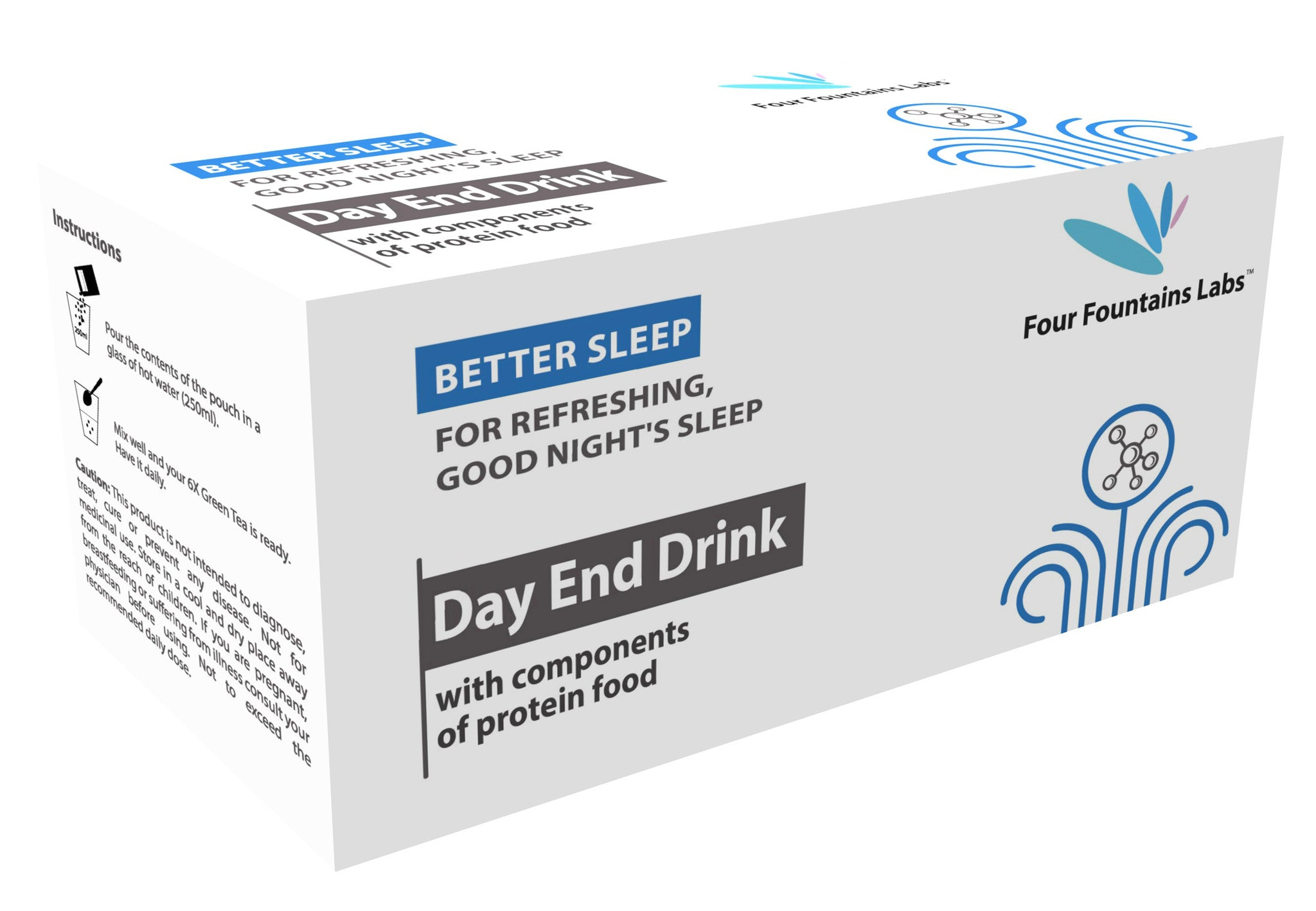 Day End Drink-for promoting deeper, better Sleep and refreshing the Body by resting (1 Month Supply)