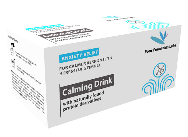 Calming Drink - for reducing Anxiety and Stress and promoting Mental Calmness and Relaxation (1 Month Supply)