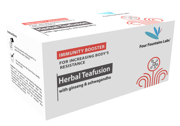 Herbal Teafusion - containing Ginseng and Ashwagandha for boosting Immunity and Resistance (1 Month Supply)