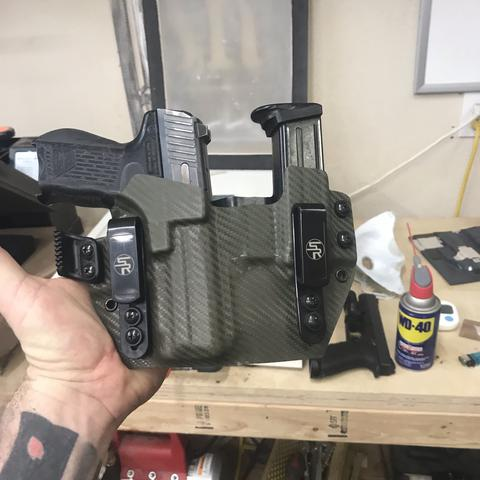 "IWB ""Fullhouse"" Kydex Holster + Attached Single Magazine Carrier - Appendix Carry"