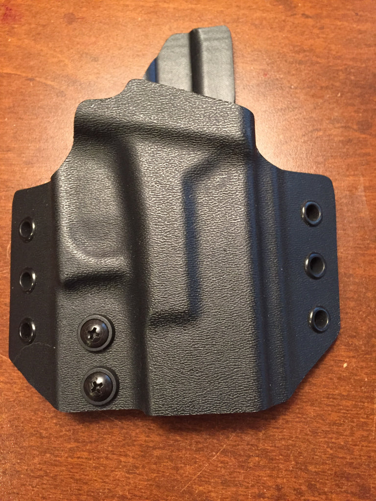 OWB Glock 26/27 Kydex Holster Tactical Black - Discounted & Ready to Ship