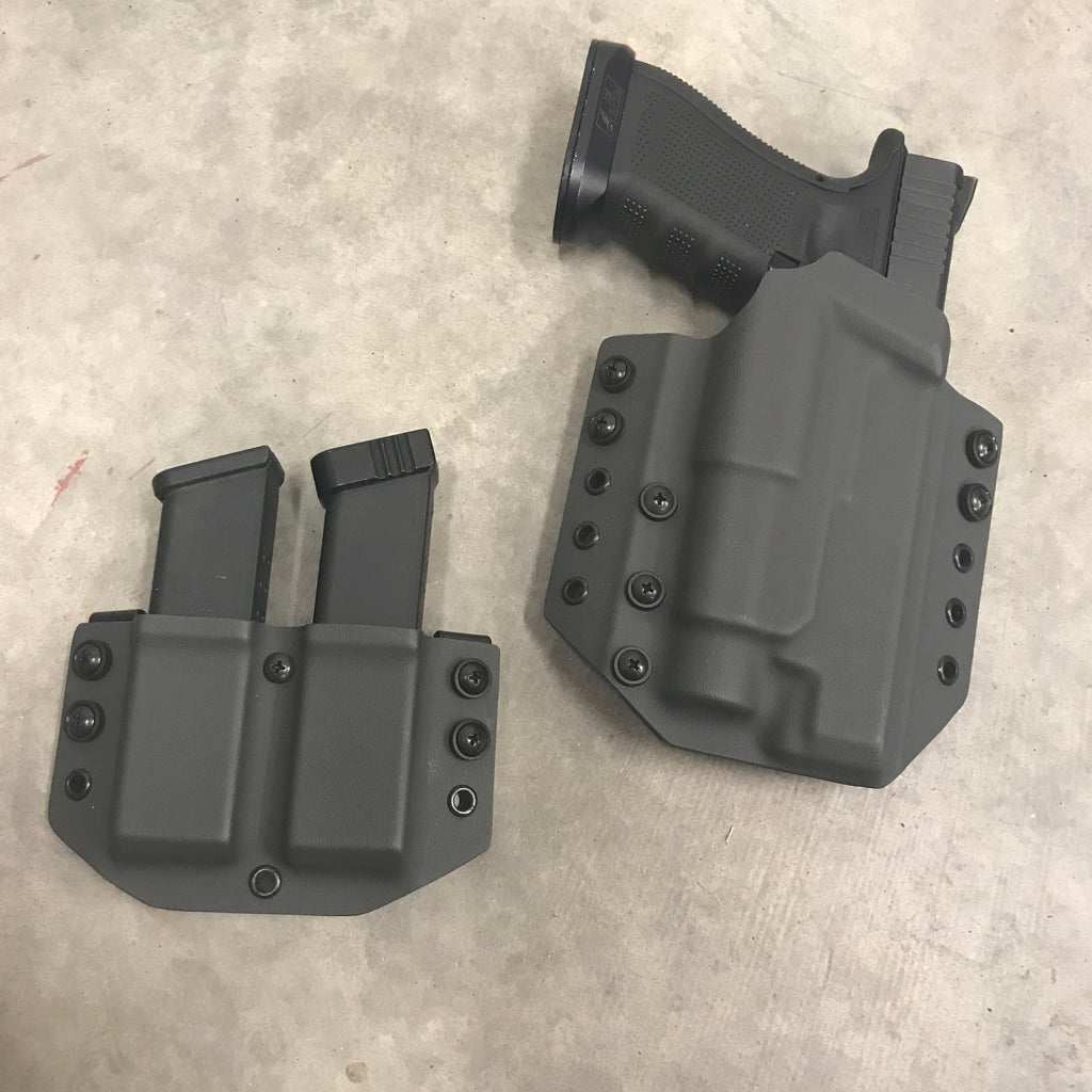 "OWB ""Range Day Combo"" Kydex Holster + Separate Double Magazine Carrier"