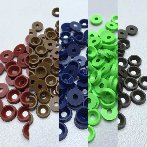 Colored Plastic Finishing Washers - Stay Ready Gear LLC™