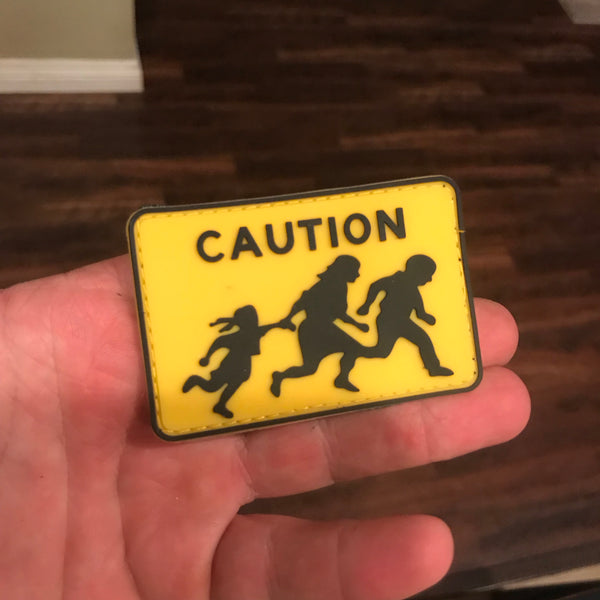Caution! US Border Patrol Street Sign Patch - Stay Ready Gear LLC™