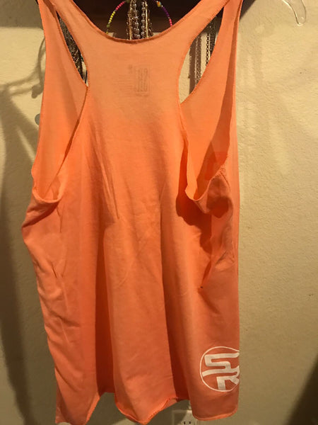 Orange SR Razor Back Tank