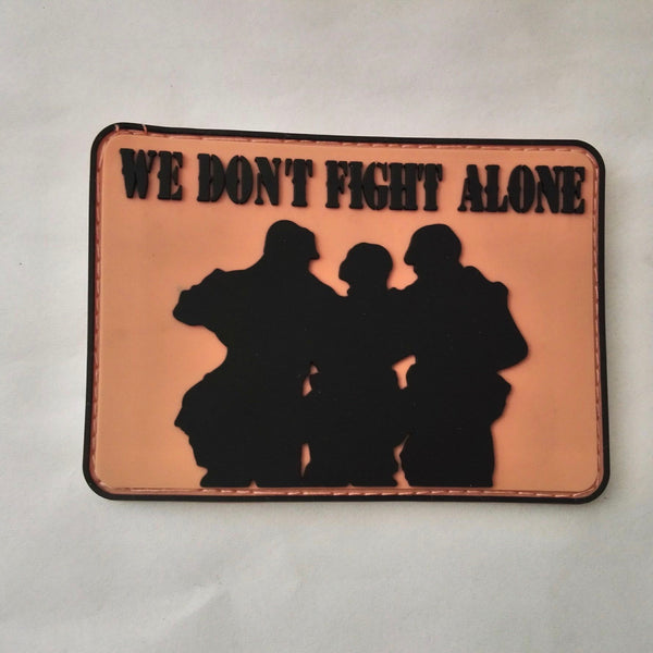 We Don't Fight Alone patch is a tribute to Border Patrol Agent James Ammon who passed on July 1, 2018 due to his fight with cancer.