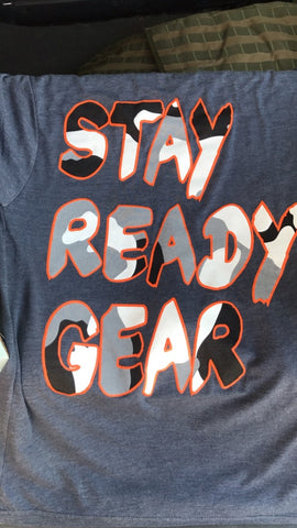 Stay Ready Gear Blue Camo Tee Shirt - Stay Ready Gear LLC™