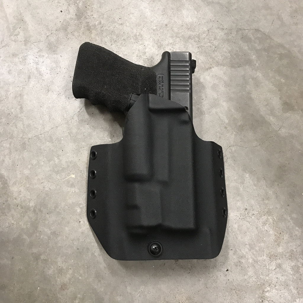 OWB Glock 19/23 w/ APLc in Tactical Black