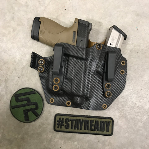"IWB ""Fullhouse"" Kydex Holster +  Attached Single Magazine Carrier"