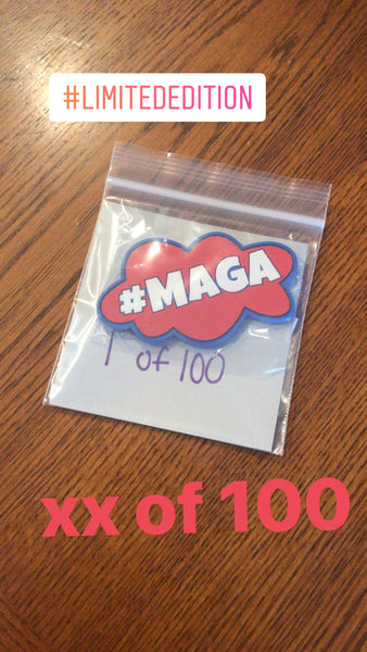 Make America Great Again Patch  #MAGA Red, White and Blue  Limited Edition: Only 100 made PVC Velcro backed patch
