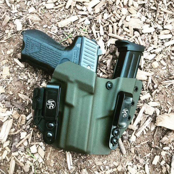 """Full House"" IWB Kydex Holster +  Attached Single Magazine Carrier"