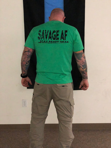 Savage AF Triblend Short Sleeve Tee - Stay Ready Gear LLC™
