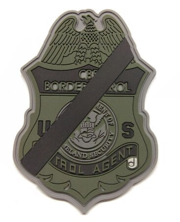 Border Patrol Mourning Badge Patch