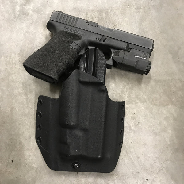 OWB Glock 19/23 w/ APLc Kydex Holster (Tactical Black) - Discounted & Ready to Ship