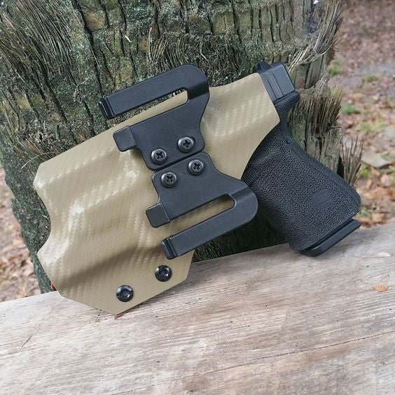 Speed Easy Clips are a great option for your holster build. They are injected molded and make it possible to attach and remove your holster from your belt without removing your belt.
