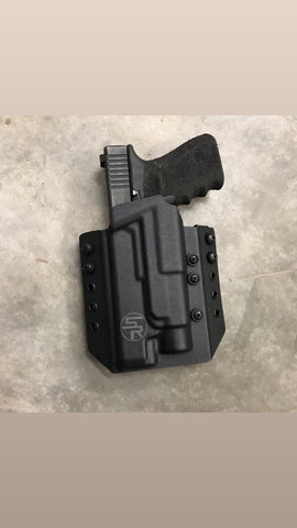 """Deuce"" OWB Kydex Holster w/Light - Stay Ready Gear LLC™"