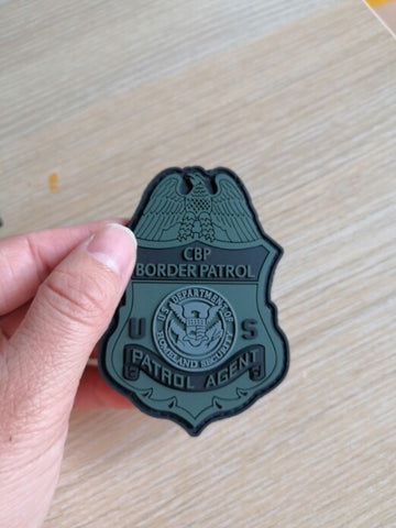 Border Patrol Badge PVC/Rubber Patch