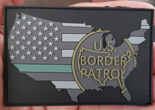 US Flag/Border Patrol Patch