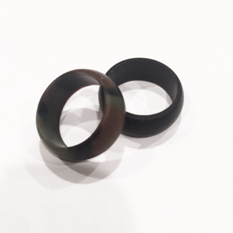 Men's Black or Camo Athletic Silicone Wedding Ring/Band High Quality