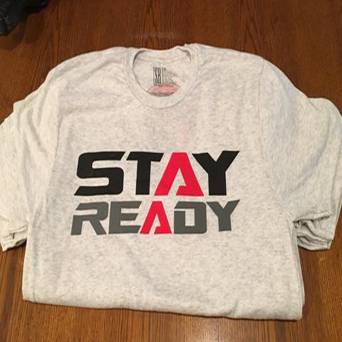 Heather White Triblend Stay Ready Tee
