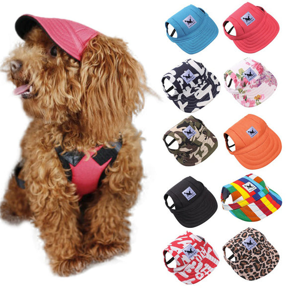 Dog Baseball Cap Hat With Ear Holes Canvas