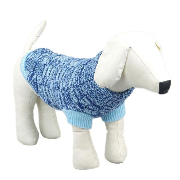 Dog Sweater For Winter Blue Warm