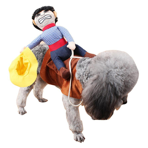 Cowboy Rider Costume For Small Dogs