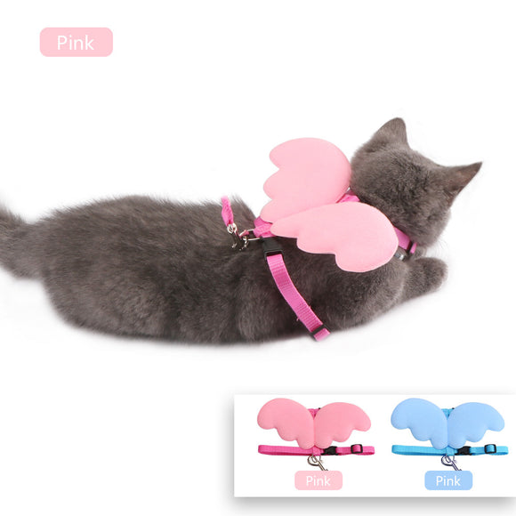 Wings Harness Collar With Leash For Small Dogs And Cats