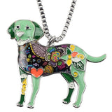 Colorful Labrador Dog Pendant Necklace