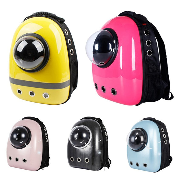 Dog And Cat Bubble Backpack Knapsack Pet Carrier Trendy Astronaut Capsule Style