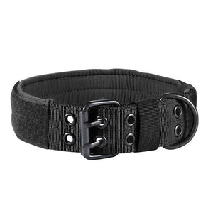 Velcro Tactical Dog Collar Nylon With Metal Buckle Adjustable