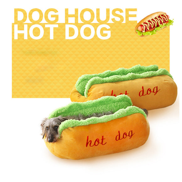 Hot-Dog Style Bed For A Warm Dog!