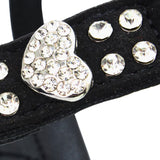 Dog Rhinestone Leather Harness Halter Bling