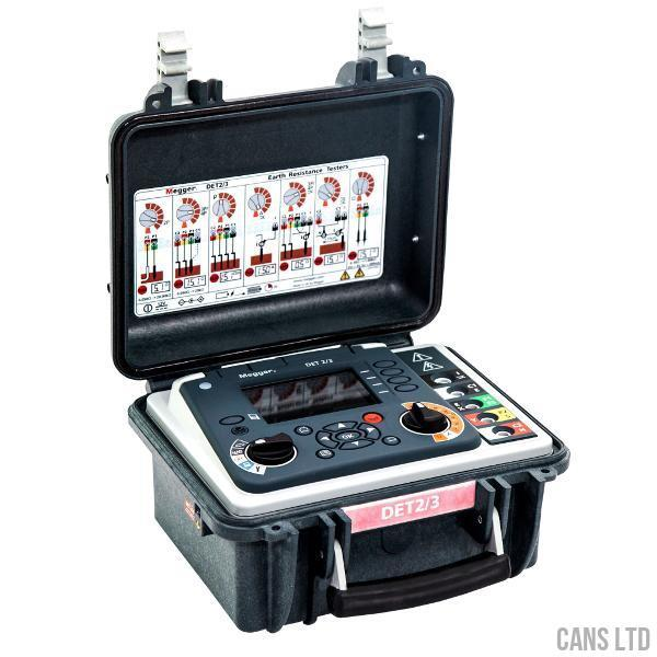 Megger DET2/3 High Resolution Earth Tester 100M Kit (LG1/1P) - CANS LTD