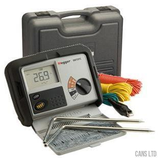 Megger DET3TC 2 & 3 Terminal Earth Tester Digital Display with Case and Kit ART Compatible - CANS LTD