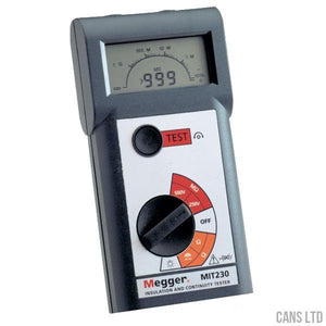 Megger MIT230 Lightweight Insulation & Continuity Tester - CANS LTD